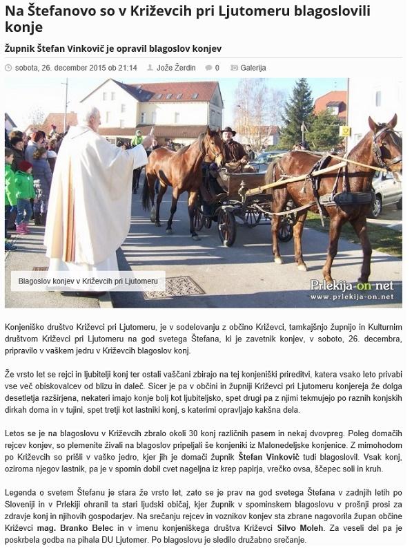 2015 blagoslov konj