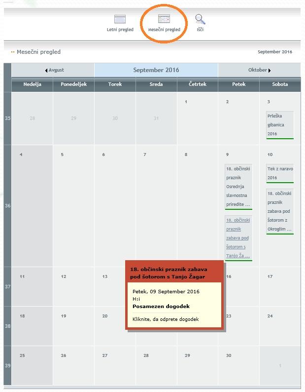 Slikovna navodila za koledar dogodkov 4