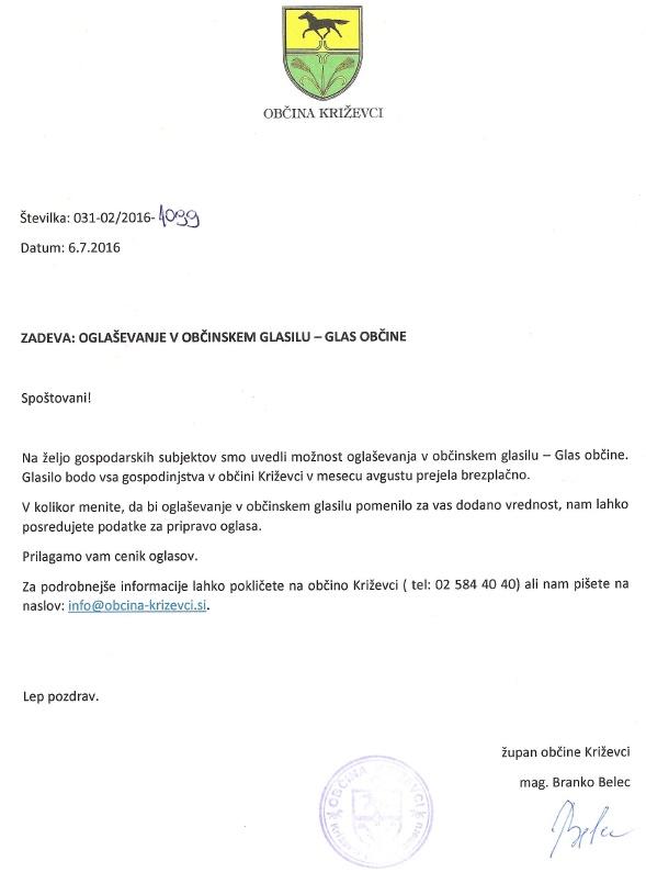 2016 Obvestilo glas Obcine