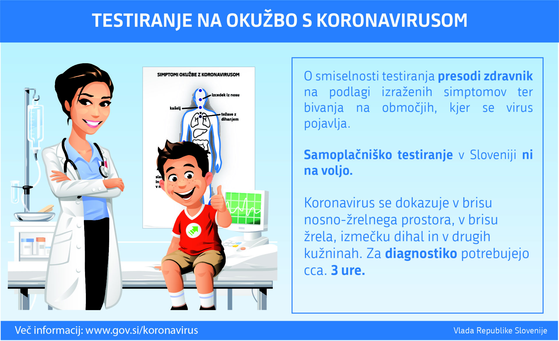 UKOM testiranje na okužbo s koronavirusom